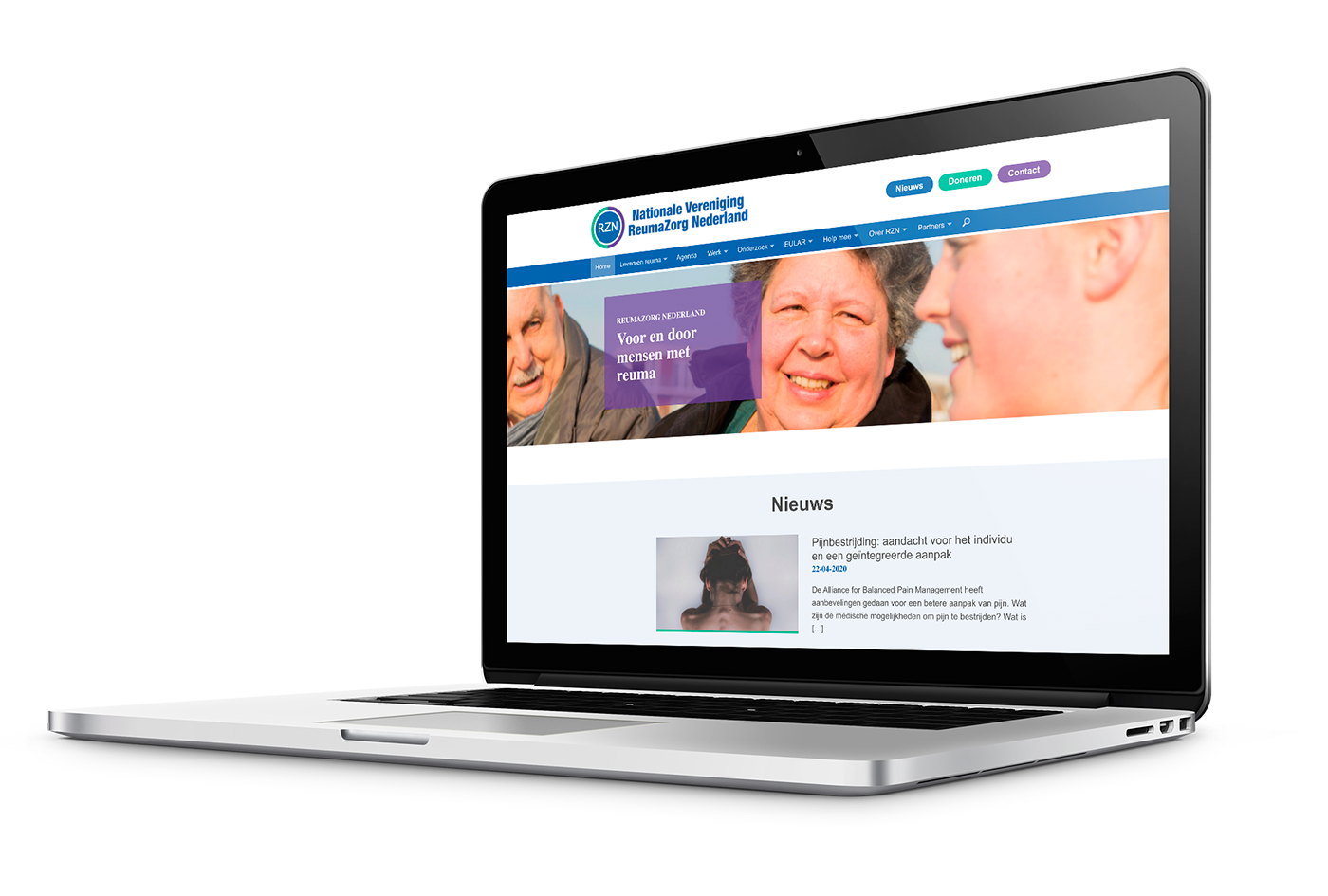 Website ReumaZorg Nederland