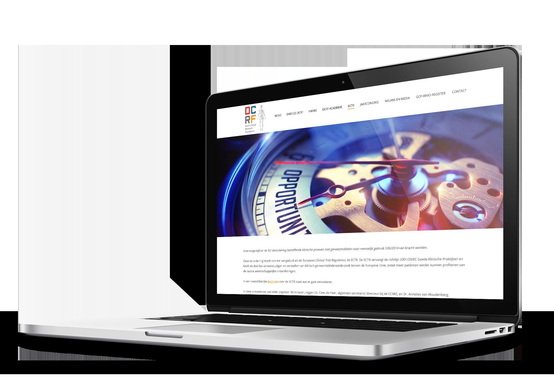 Website klinisch onderzoek DCRF